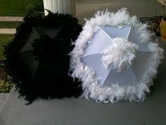 Wedding second line umbrella set black and by NewOrleansUmbrellaCo, $70.00