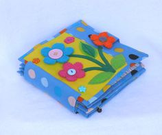 Handmade soft book for babies and toddlers, fabric book, first book, activity book, baby book, quiet book, fruit and vegetables, gift