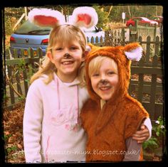 rabbit and teddy dress up