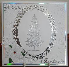 Christmas card. Maybe try this in gold. Lovely as a Tree