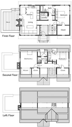 images about sims floor plans on Pinterest   Floor plans      of the  quot Not So Big House quot  plans  I think this would be perfect for a lake or beach vacation cottage  Just enough room