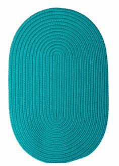 4x4 Round Indoor Outdoor Reversible Braided RUG Washable Turquoise Color | eBay