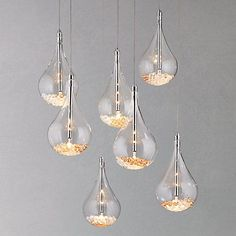 Buy John Lewis Sebastian 7 Light Drop Ceiling Light | John Lewis - http://centophobe.com/buy-john-lewis-sebastian-7-light-drop-ceiling-light-john-lewis/ -