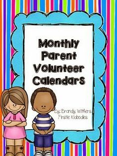 Monthly Parent Volunteer Calendars are BRAND NEW in my store tonight! They are 50% off for the first 48 hours! Start planning for next year already and change your life with more classroom volunteers! Firstie Kidoodles