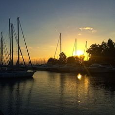 Athens, Alimos marina delivers glorious sunsets