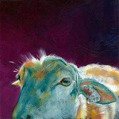 - oil by ©Brenda Ferguson (via DailyPainters) Art Painting Gallery, Artist Gallery, Animal Paintings, Art Paintings, Photo Illustration, Love Art, Les Oeuvres, Illustrators, Sheep