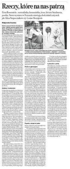 """2013.05.22 Gazeta Wyborcza """"Rzeczy, które na nas patrzą"""""""