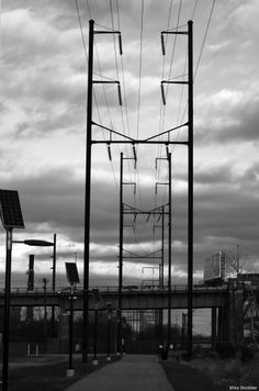 Power Lines; photo from Lardner's Point, #Philly.