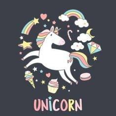 Set of magical unicorn stickers vector My Images, Free Images, Cloud Illustration, Cartoon Clouds, Unicorn Stickers, Magical Unicorn, Free Illustrations, Music Stuff, Vector Design