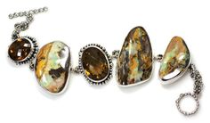 Opal and Whisky Quartz bracelet by Echo of the Dreamer