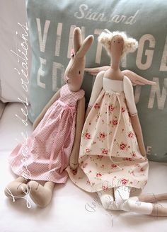 Le monde des créations: Poslední Andělka v tomto roce :-) Maileg Bunny, Doll Sewing Patterns, Ooak Dolls, Stuffed Toys Patterns, Fabric Dolls, Doll Clothes, Creations, Crafts, Handmade