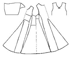"Side-lacing kirtle dress journal. The pattern for this item is based on the Herjolfsnes gown # 39. (Diagram from ""Some Clothing of the Middle Ages -- Kyrtles/Cotes/Tunics/Gowns -- Herjolfsnes 39,"" by I. Marc Carlson, Copyright 1997, 2003)."