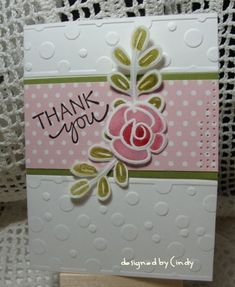 Winter Thank you by YLM - Cards and Paper Crafts at Splitcoaststampers