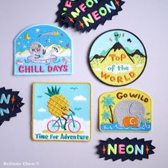 Bel's Art World - 3 x Mix and Match Iron on Patches £18.50