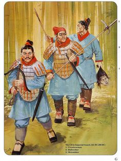 ancient chinese warriors of the qin dynasty under the emperor qin shi huangm during the qins wars of unification