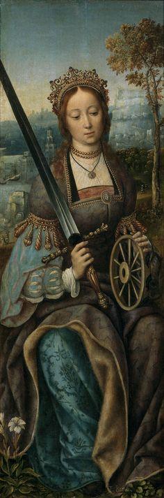 Santa Catalina de Alejandría (1469), Tabla lateral - Taddeo Crivelli Taddeo Crivelli, Ferrara, pintor italiano de miniaturas del renacimiento