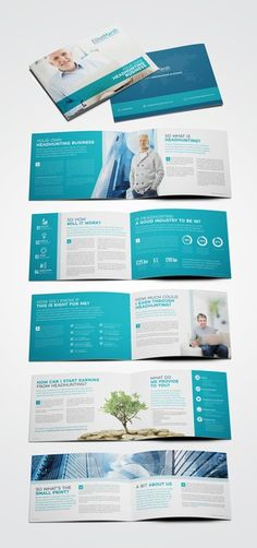 New headhunting business brochure by Emanuel Dumitrescu