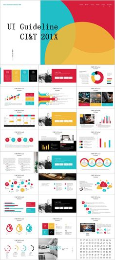Business infographic  29+ red black work summary PowerPoint - Summary Report Template