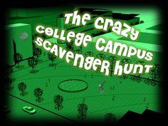 College Campus Scavenger Hunt -  Instant Download