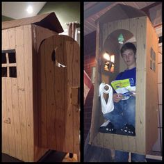 Home made Halloween Outhouse costume! #bestcostume & dude stuck in outhouse costume Halloween 2011 | Halloween ...