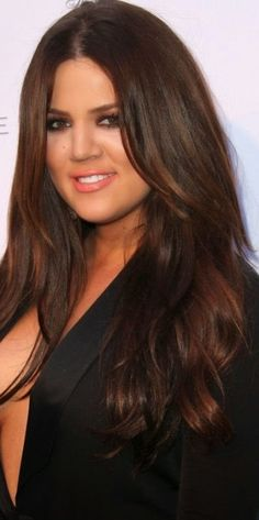 Rich brown auburn hair,amazing shades for brunette's with long hair