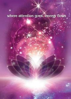 Where thought goes, energy flows