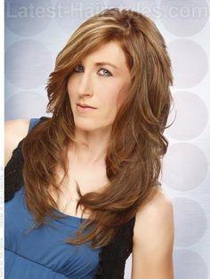 Long Brunette Shag Cut