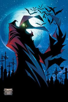 Spawn by Todd McFarlane (Image comics) Comic Book Artists, Comic Book Characters, Comic Book Heroes, Comic Artist, Comic Character, Comic Books Art, Spawn Comics, Bd Comics, Image Comics
