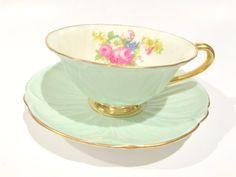 Shelley Tea Cup and Saucer, Shelley Oleander Teacup, Shelley China, Hulmes Rose Tea Cups, Tea Set, English Teacups, Antique Tea Cups