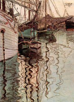 Egon Schiele- Harbor of Trieste (1907)