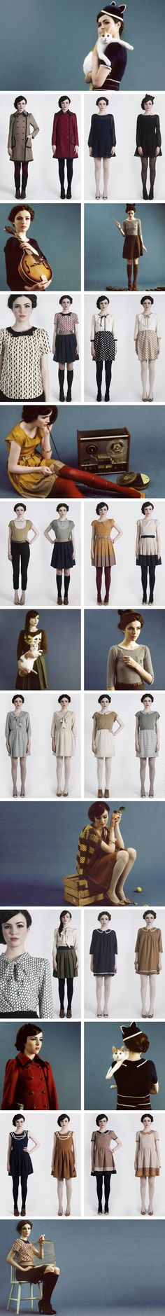 foxinthepine-dearcreatures  pinned this just for those coats at the top left, second row...