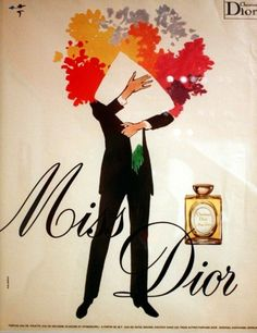 Miss Dior ad by Rene Gruau