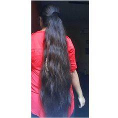 Indian Long Hair Braid, Long Hair Ponytail, Braids For Long Hair, Open Hairstyles, Indian Hairstyles, Ponytail Hairstyles, Beautiful Long Hair, Gorgeous Hair, Amazing Hair