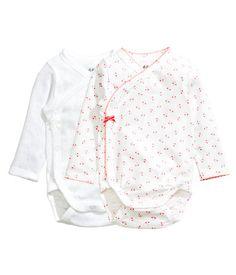 H&M long-sleeved bodysuits - $19.99 (for both, sleepwear)