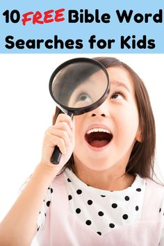 Download FREE Bible Word Search pages for Kids Church.    #Biblewordsearch