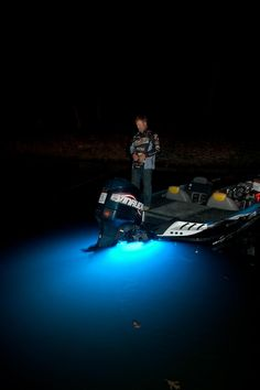 Professional #bass angler Jay Grave using his LIFEFORM 9 blue to attract shad and other bait fish while competing at the Grand Lake O' the Cherokees. #fishing