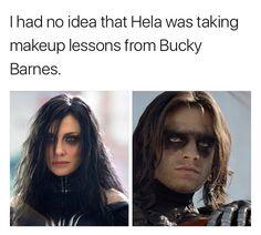 Hela and Bucky Barnes