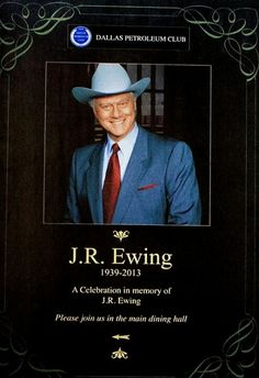J R Ewing. A fabulous so and so with wicked eyebrows, an even more wicked temperament and a surprisingly tender heart in there somewhere. Dallas Tnt, Dallas Tv Show, I Dream Of Jeannie, Sidney Sheldon, Charlene Tilton, Patrick Duffy, Larry Hagman, Linda Gray, Kino Film