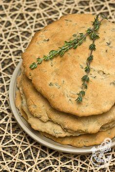 Thyme & Garlic Naan Bread