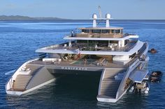 Meet the Manifesto Catamaran Superyacht: King of Yachts! -  #boats #catamaran #luxury #yachts