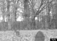 """Peoria Asylum Ghost: The TAPS Ghost Hunters captured this image while investigating the Peoria Asylum in Bartonville, Illinois. The photo is actually a still from a video. When he saw the video, the owner of the property said, """"You can see somebody walking plain as day."""""""