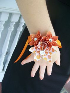 Paper Flower Corsages Kusudama Origami by PoshStudios on Etsy - With my colors of course..