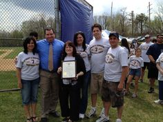 On April 21st, the Lackawanna County Commissioners, the Borough of Old Forge and the Moosic Old Forge Men's Softball League honored the late Robert V. Sememza with a dedication of the men's softball field at Pagnotti Park as the Robert V. Semenza Field.
