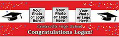Personalize your graduation with a personalized graduation banner.  Add photos of your graduation for a special touch.