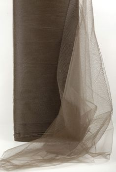 """54"""" Cocoa Brown Fine Tulle  40 yards"""