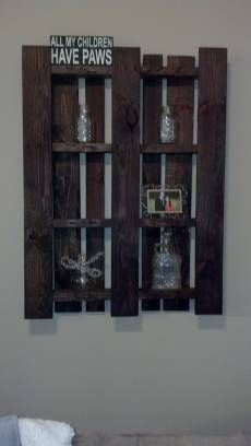 Recycled pallets into photo frame wall decor
