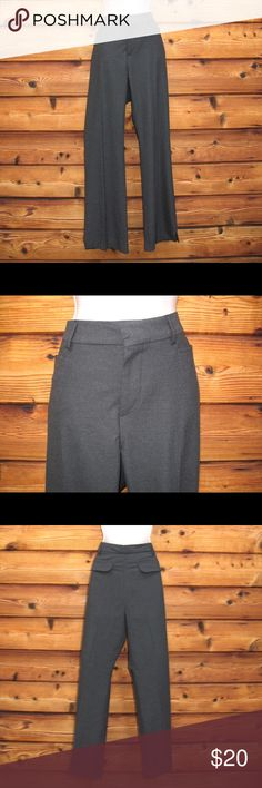 """Never Worn Old Navy 2005 Gray Dress Pants Never Worn Old Navy 2005 Gray Dress Pants  *Never Worn  Details: Old Navy Size: 12 Color: Charcoal Gray Hook-eye zip closure Belt loops Two front open pockets Two rear flap pockets Unlined Slits at hem Polyester/Viscose/Elastane Made in Egypt  Measurements: Waist: 34"""" Hips: 42"""" Inseam: 32"""" Front Rise: 10"""" Old Navy 2005 Pants Straight Leg"""