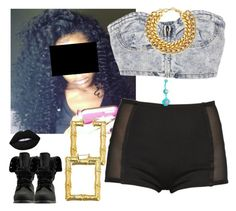"""""""Clubbing-Cecelia ✨"""" by newtrillvibes ❤ liked on Polyvore featuring Lime Crime and A.V. Max"""