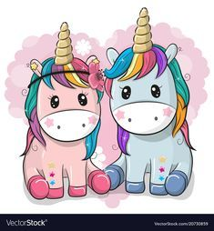 Two Cute Unicorns on a heart background. Two Cute Cartoon Unicorns on a heart background royalty free illustration Unicorn Drawing, Cartoon Unicorn, Unicorn Art, Unicornios Wallpaper, Cute Small Animals, Cat Patch, Unicorn Pictures, Heart Background, Unicorn Birthday Parties