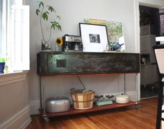 From Old Army Locker To Kitchen Console Bar! |